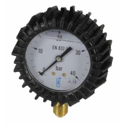 Manomètre radial glycérine 0 à 40b Ø63mm avec protection - DIFF
