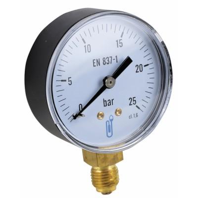 Manomètre radial sec 0-25b Ø63mm - DIFF
