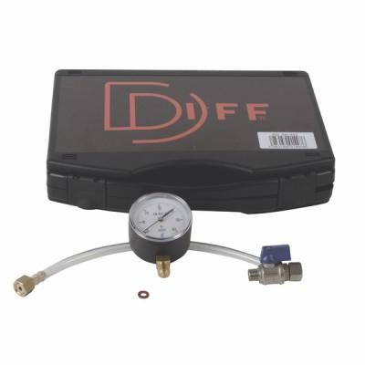 Koffer Gasdruck Druckmesser Gas 60 mbar  - DIFF