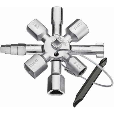 Clé gaz multifonctions KNIPEX TWINKEY®  - KNIPEX - WERK : 00 11 01