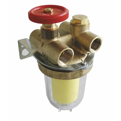 Filtre fioul 2 conduites avec robinet - OVENTROP : 2120261+2127500