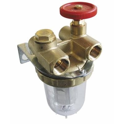 "Filtre fioul 2 conduites avec robinet FF3/8"" - OVENTROP : 2120103"
