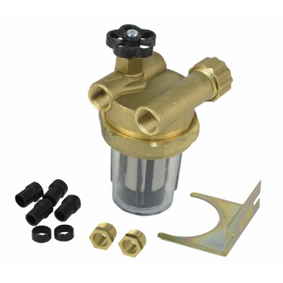 "Filtre fioul 2 conduites avec robinet FF3/8"" - DIFF"