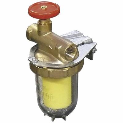 """Filtre fioul une conduite avec robinet FF3/8"""" - OVENTROP : 2123261+2127700"""