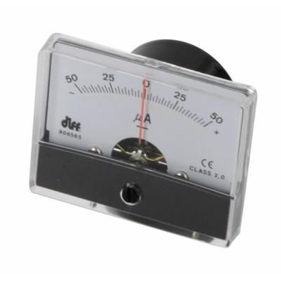 Micro-ampèremètre à encastrer -50 à 50µA