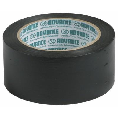 Ventilation Rauchabzug Klebeband PVC schwarz 50mm  - DIFF