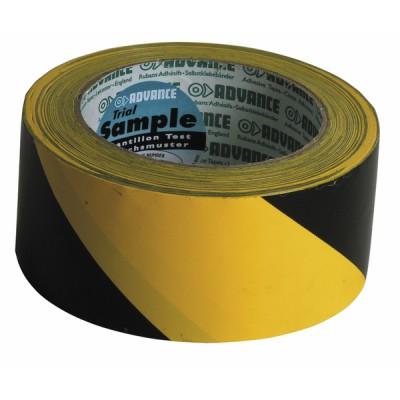 Nastro adesivo per delimitazioni giallo/nero - ADVANCE : 110001