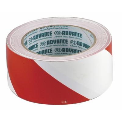 Klebeband Markierung rot/weiß (50mm x 33m)  - DIFF