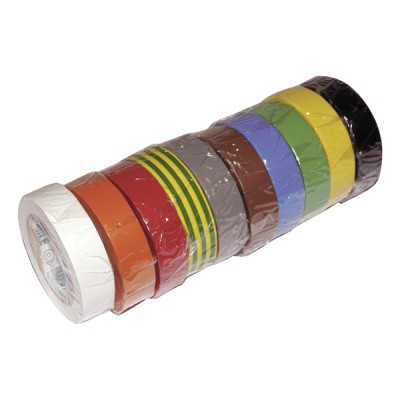 Rouleau PVC électrique adhésif 15mmx10m (X 10) - ADVANCE : 173884