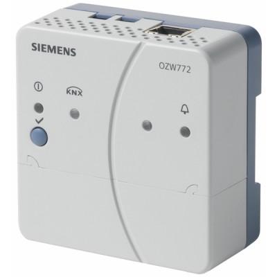 Centrale de communication WEB KNX 1 appareil - SIEMENS : OZW772.01