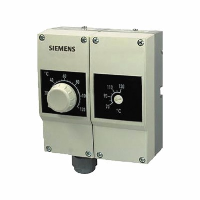 Termostato regolazione/limitatore doppio 40...120°C IP40 - SIEMENS : RAZ-TW.1200P-J