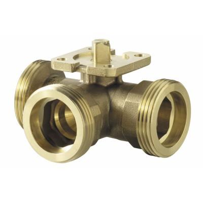 3-port ball valve, externally threaded, PN40, DN25, kvs 10 - SIEMENS : VBG61.25-10