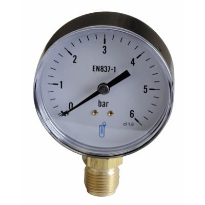 Manomètre radial sec 0-6b Ø80mm - DIFF