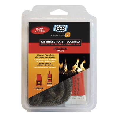 Kit treccia piatta in fibra di vetro e collafeu - GEB : 821593