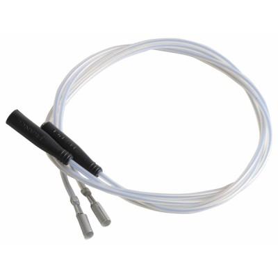 Cable alta tensión especifico silicona 270 (X 2) - DIFF para Cuenod : 13015608