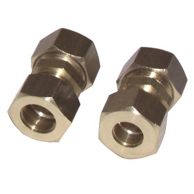 Racor de oliva recto tubo 12mm x tubo 10mm  (X 2) - DIFF