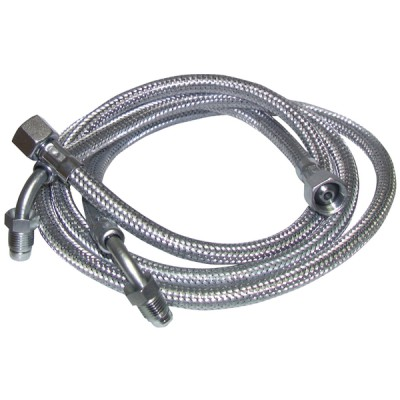 "Flexible gasóleo H3/8"" x M1/4 codo 90° lg 900mm  (X 2) - DIFF"