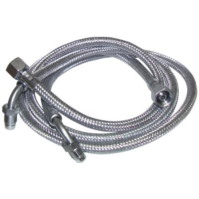 """Ölschlauch F3/8"""" x M1/4 mit Ring gebogen 90°  Länge 900mm  (X 2) - DIFF"""