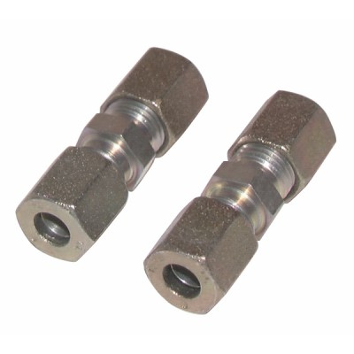 Racor de compresión recto tubo 8mm x tubo 8mm  (X 2) - DIFF
