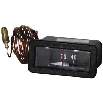 Thermomètre rectangulaire 20° à 120°C - DIFF