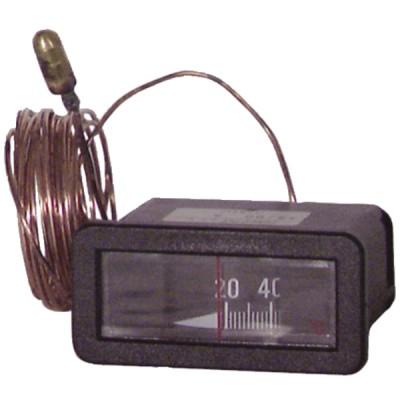 Termómetro rectangular 20° a  120°C