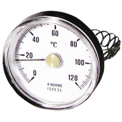 Thermomètre d'applique 0 à 120°C PVC - DIFF
