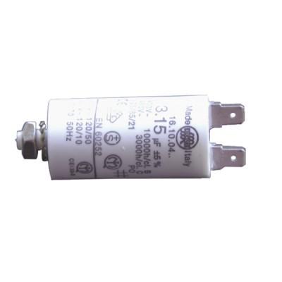 Standard Kondensator ständig  2 µF (Ø30 x Lg.59 x Gesamtlänge 84 ) - JOANNES: 203302