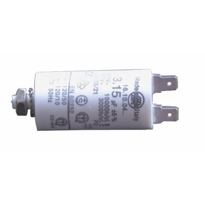 Standard permanenter Kondensator 31,5 µF (Ø45 xLg.92 xGesamt 120) - DIFF