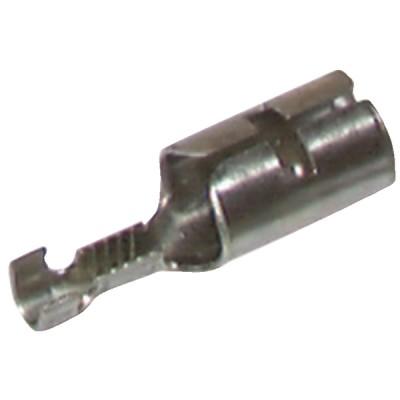 Hochspannungs-Kabelschuh zum Falzen Ø 6,35  (X 12) - DIFF: 12COSSHTàSERTIRD