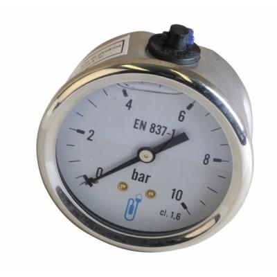 Manomètre radial glycérine 0-10b Ø63mm - DIFF