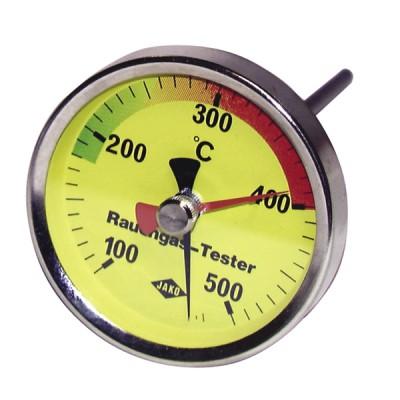 Termómetro redondo de humos 100 a 500°C