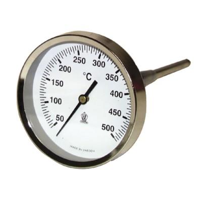 Thermomètre rond de fumée 50 à 500°C - DIFF