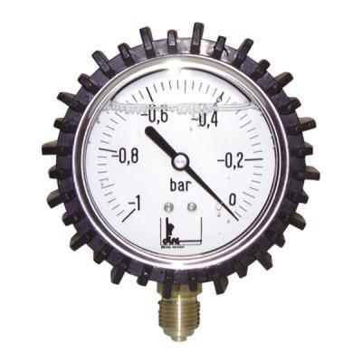 """Runder Vakuummesser -1 bis 0 bar Durchmesser 63mm M1/4"""" Gehäuse aus rostfreiem Stahl mit Glyzerin - DIFF"""