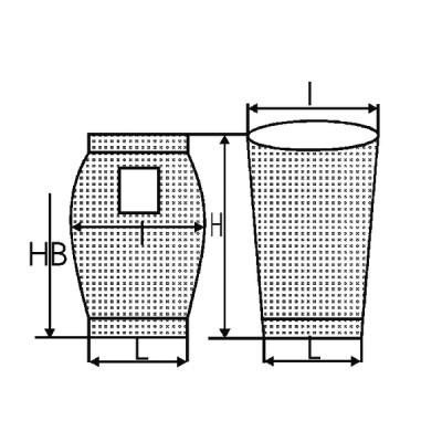 Saugersack H 550  (X 10) - DIFF