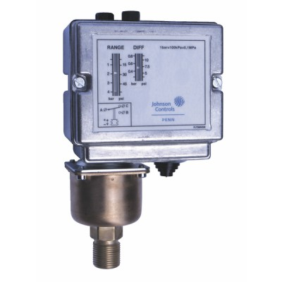 Steam and water pressure switch - JOHNSON CONTR.E : P48AAA-9130