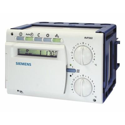 Régulateur chauffage programmable 2 circuits chauffage et ECS - SIEMENS : RVP360