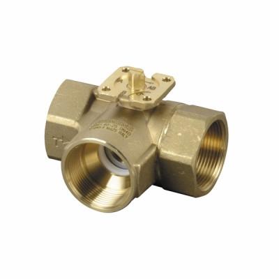 3-port ball valve, internal thread, PN40, DN40, kvs 25 - SIEMENS : VBI61.40-25