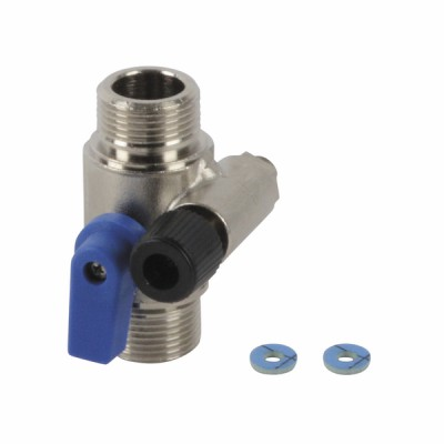 Blue filling valve connecting plate - UNICAL : 03534