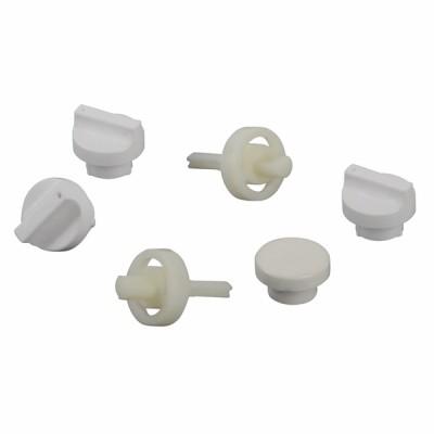 Ensemble boutons et axes blancs  - UNICAL : 04482E