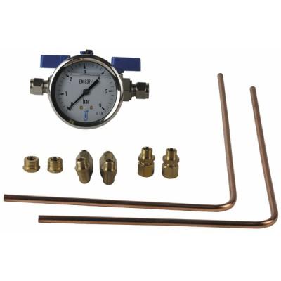 Kit verifica pressione circolatore 0-6 bar - GRUNDFOS OEM : 96519940