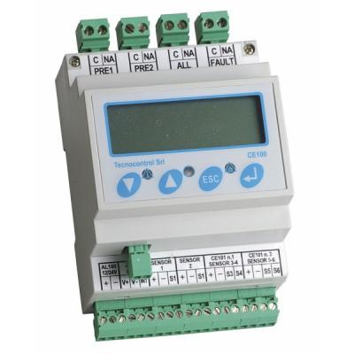 Detección gas - Central 6 vías tipo ce 100 - TECNOCONTROL : CE100
