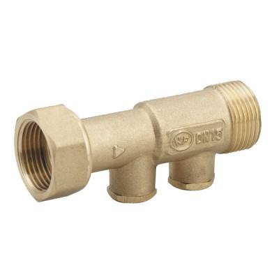 "Brass anti-pollution check valve NF 3/4"" F M long version  - DIFF"