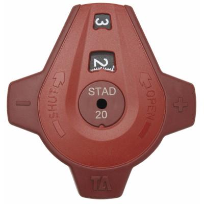 Poignée complète vanne STAD DN 20 à 50 - IMI HYDRONIC : 52186-003