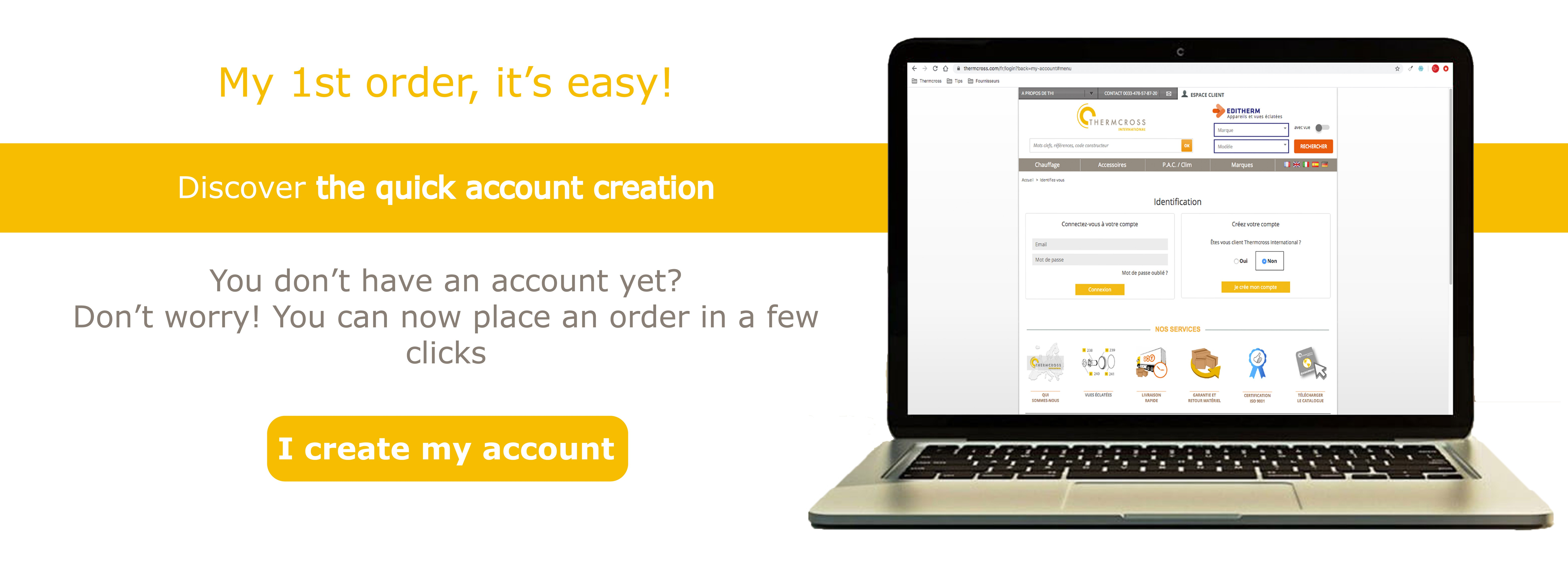Discover the quick account creation