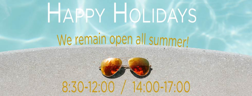 We remain open all summer!